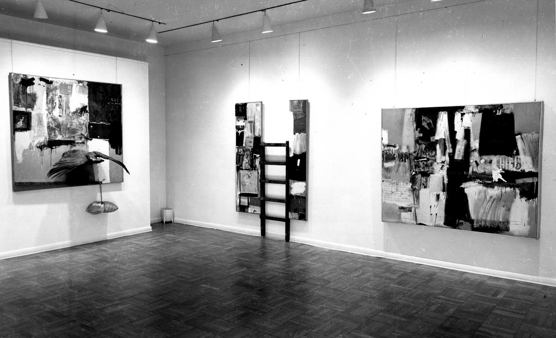 Installation view, Robert Rauschenberg, 4 EAST 77.