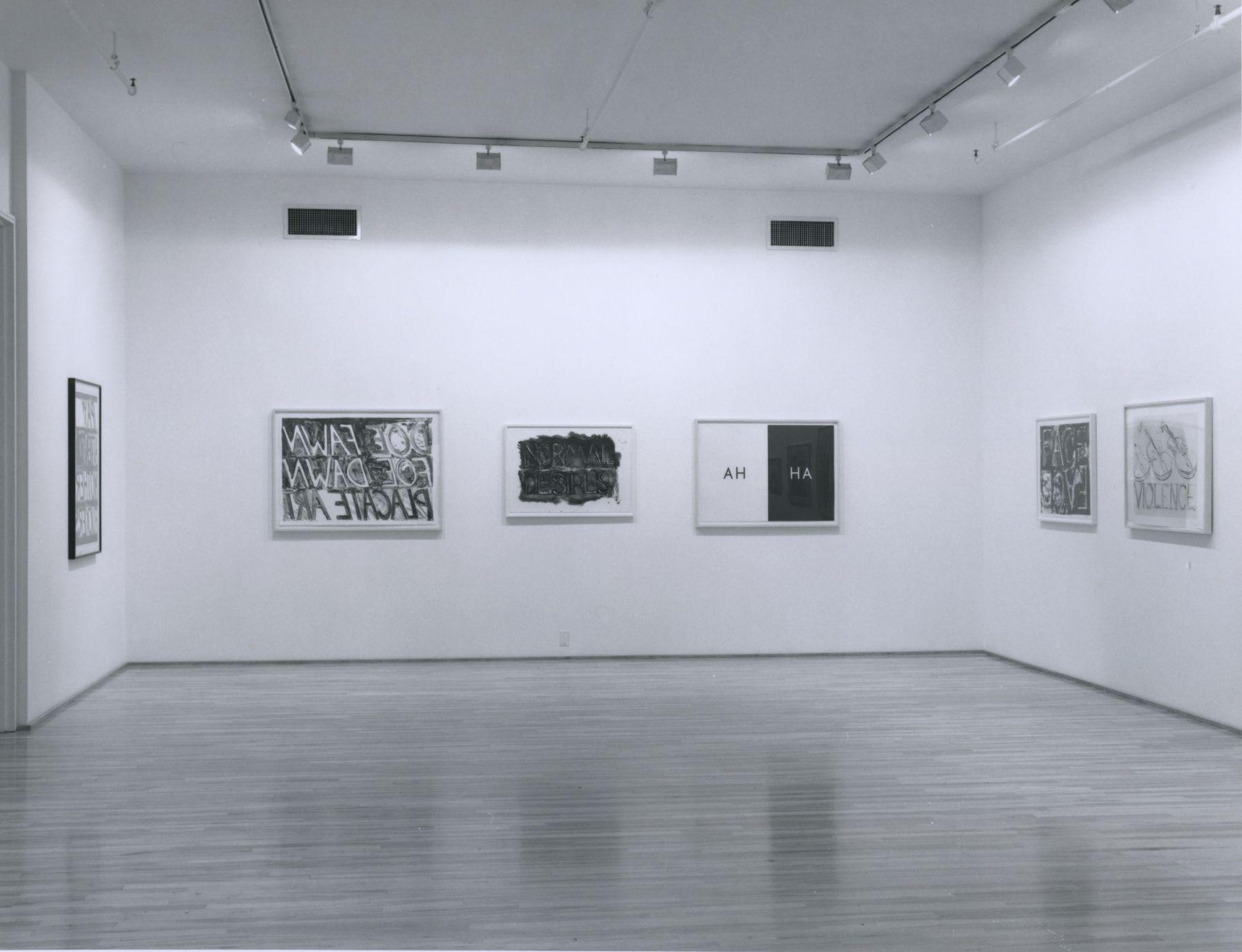 Installation view, Robert Morris, Bruce Nauman, 578 BROADWAY