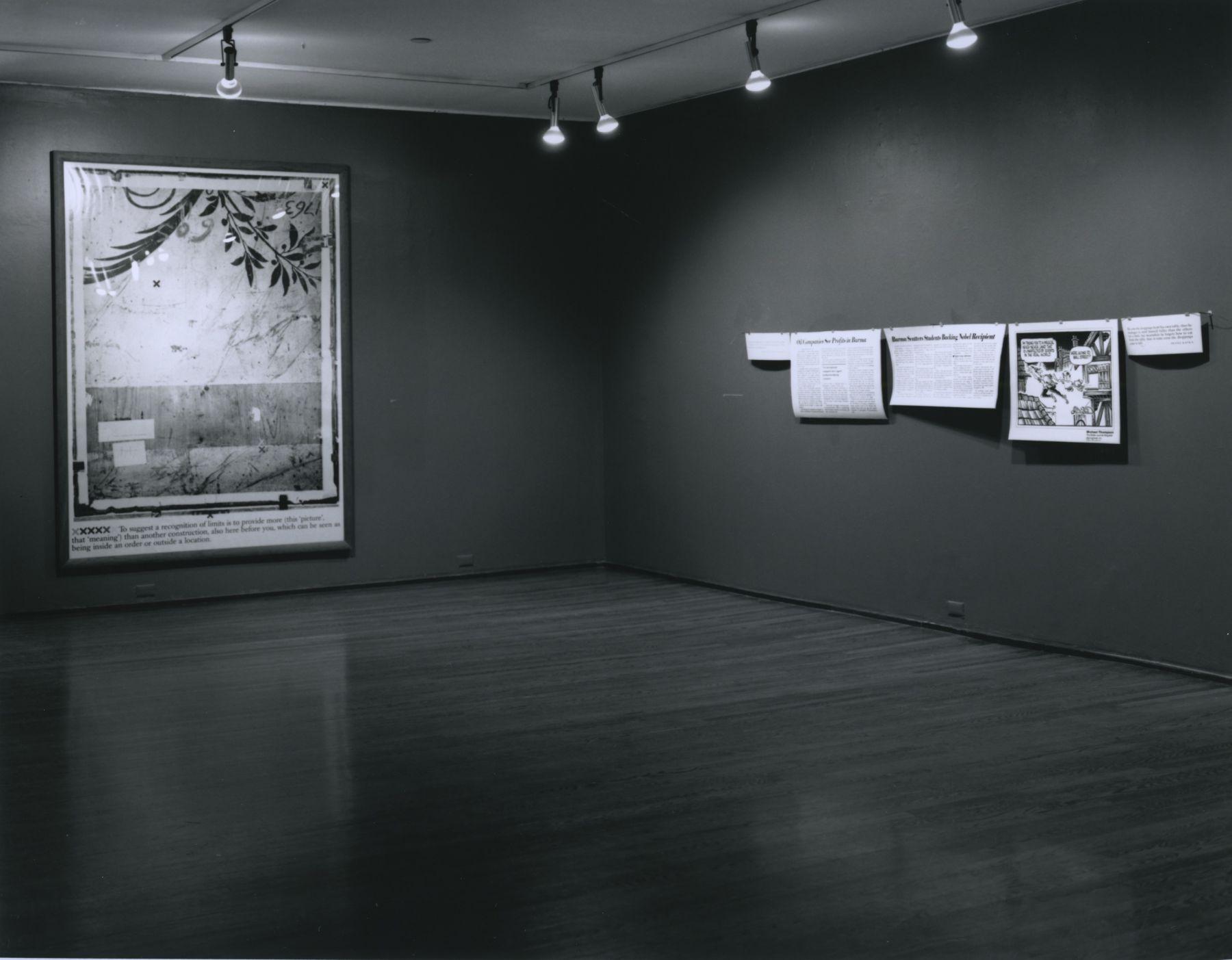 Installation view, Joseph Kosuth, 420 WEST BROADWAY.