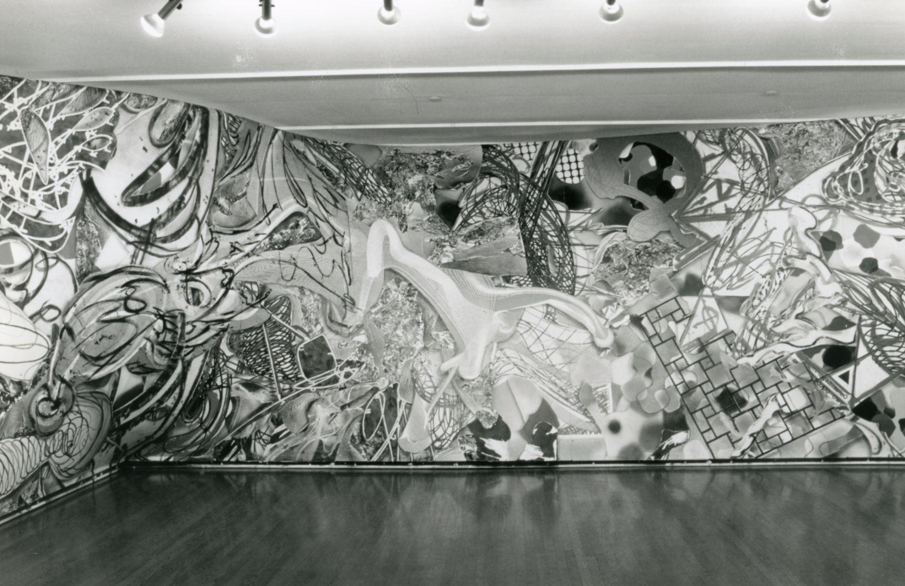 Installation view, Frank Stella: Free Standing Murals, 420 WEST BROADWAY.