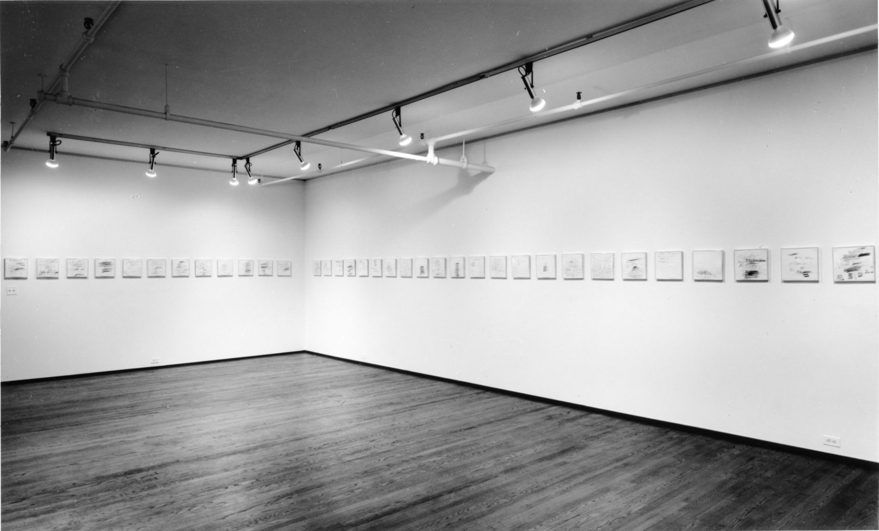 Installation view, Cy Twombly, 420 WEST BROADWAY