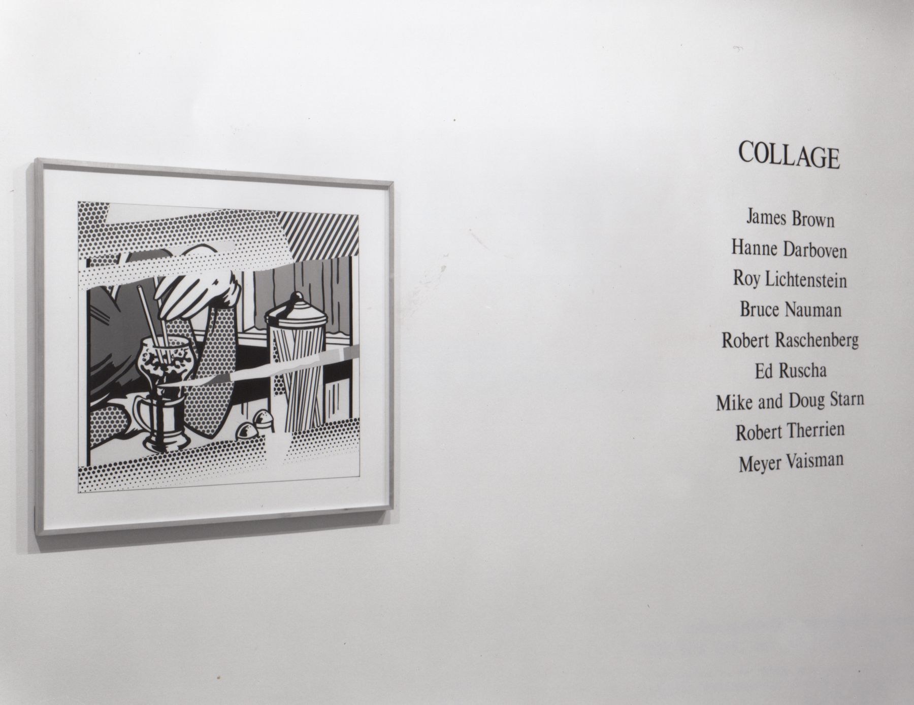 Installation view, Collage Group Exhibition, 578 BROADWAY