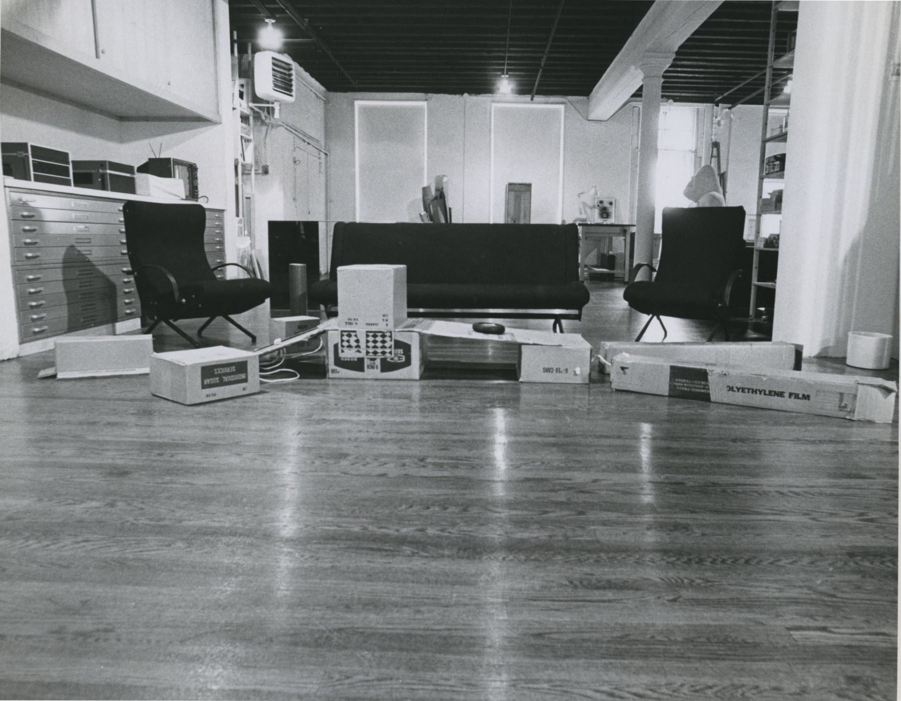 Installation view, Furniture Designed by Artists, 420 WEST BROADWAY.