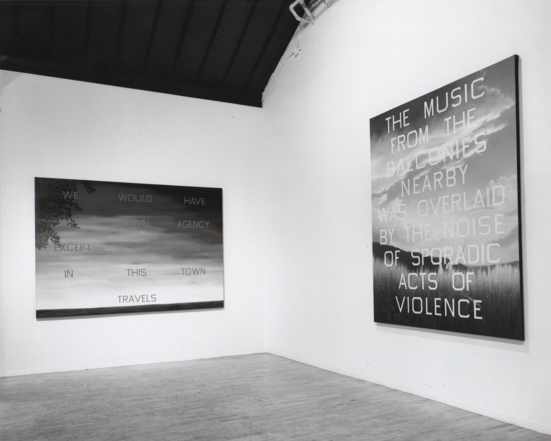 Installation view, Ed Ruscha, 142 GREENE