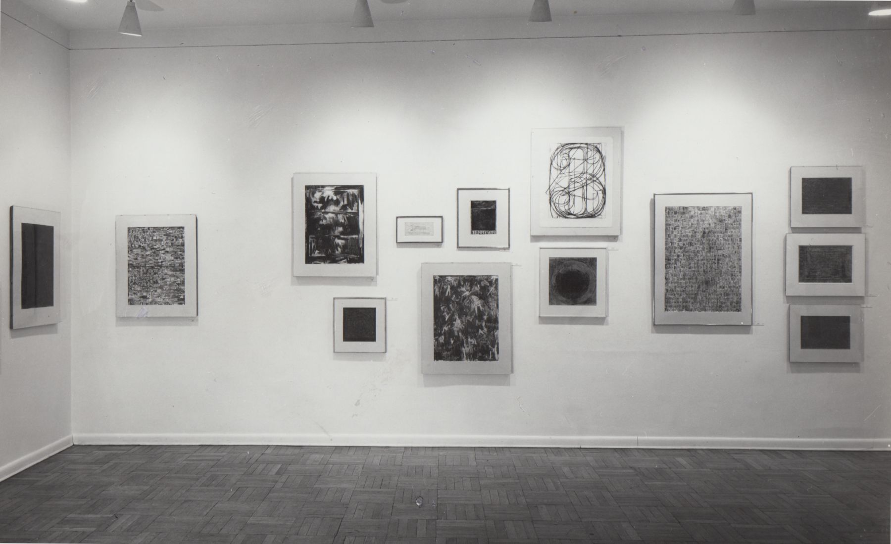 Installation view, Jasper Johns: Drawings, Sculptures & Lithographs, 4 EAST 77