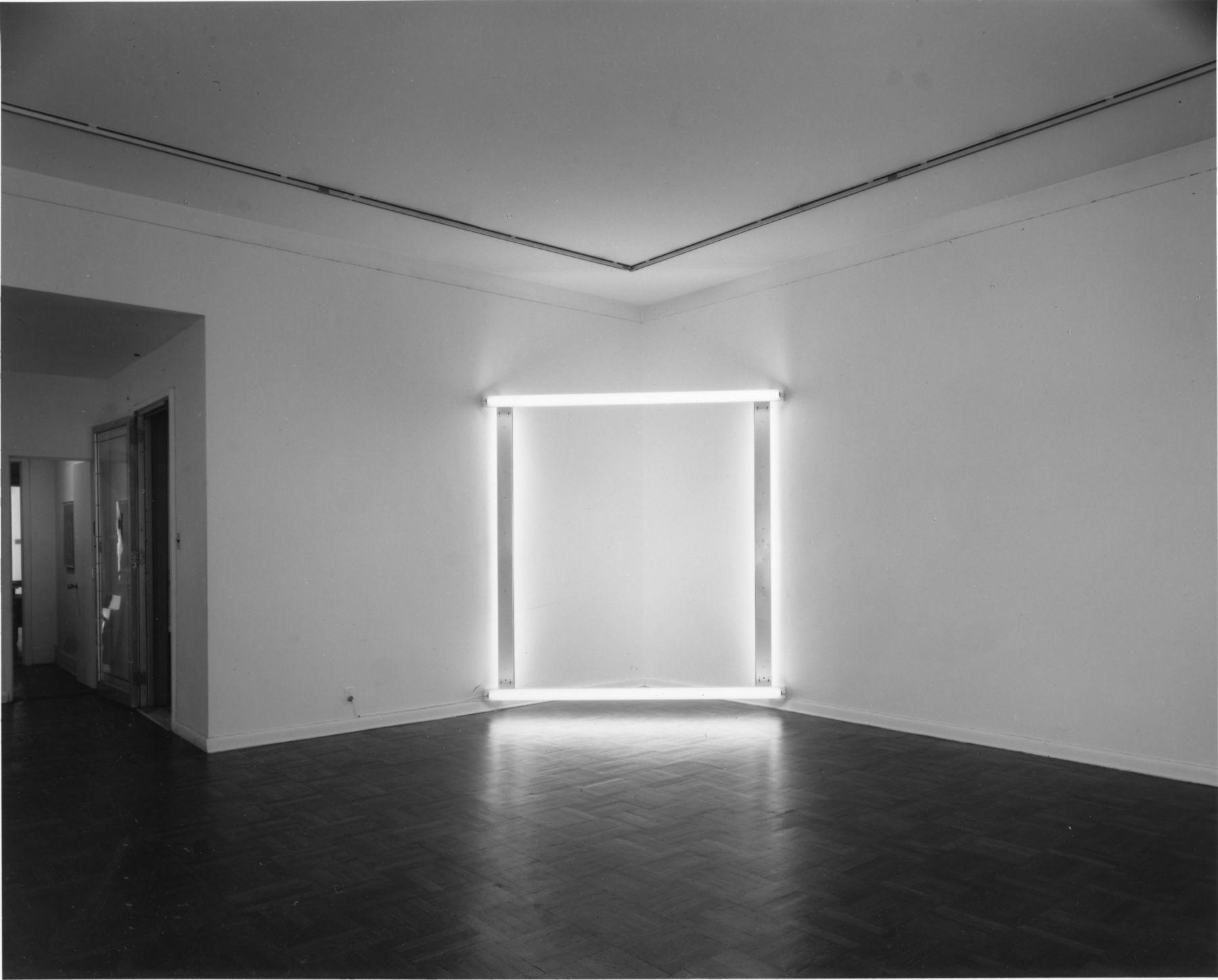 Installation view, Dan Flavin, 4 EAST 77