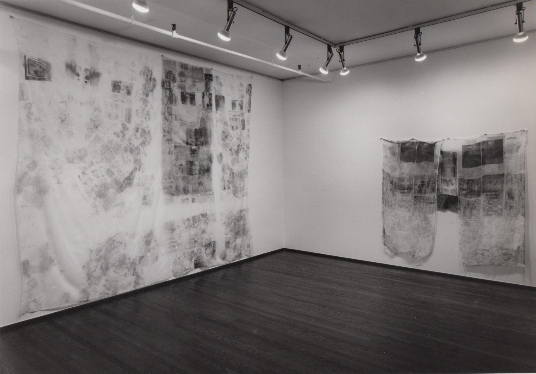 Installation view, Robert Rauschenberg: Hoarfrost Series, 420 WEST BROADWAY