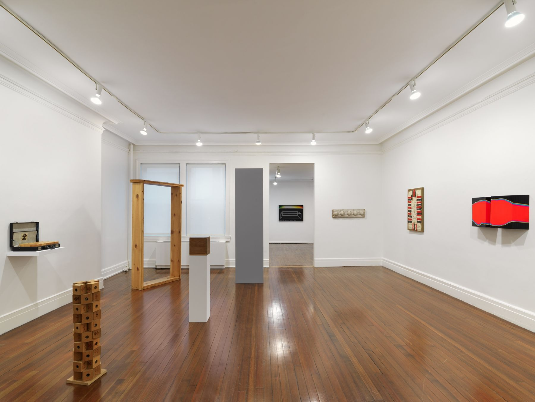 Installation view, 1963—Boxing Match, Revisited, 18 EAST 77