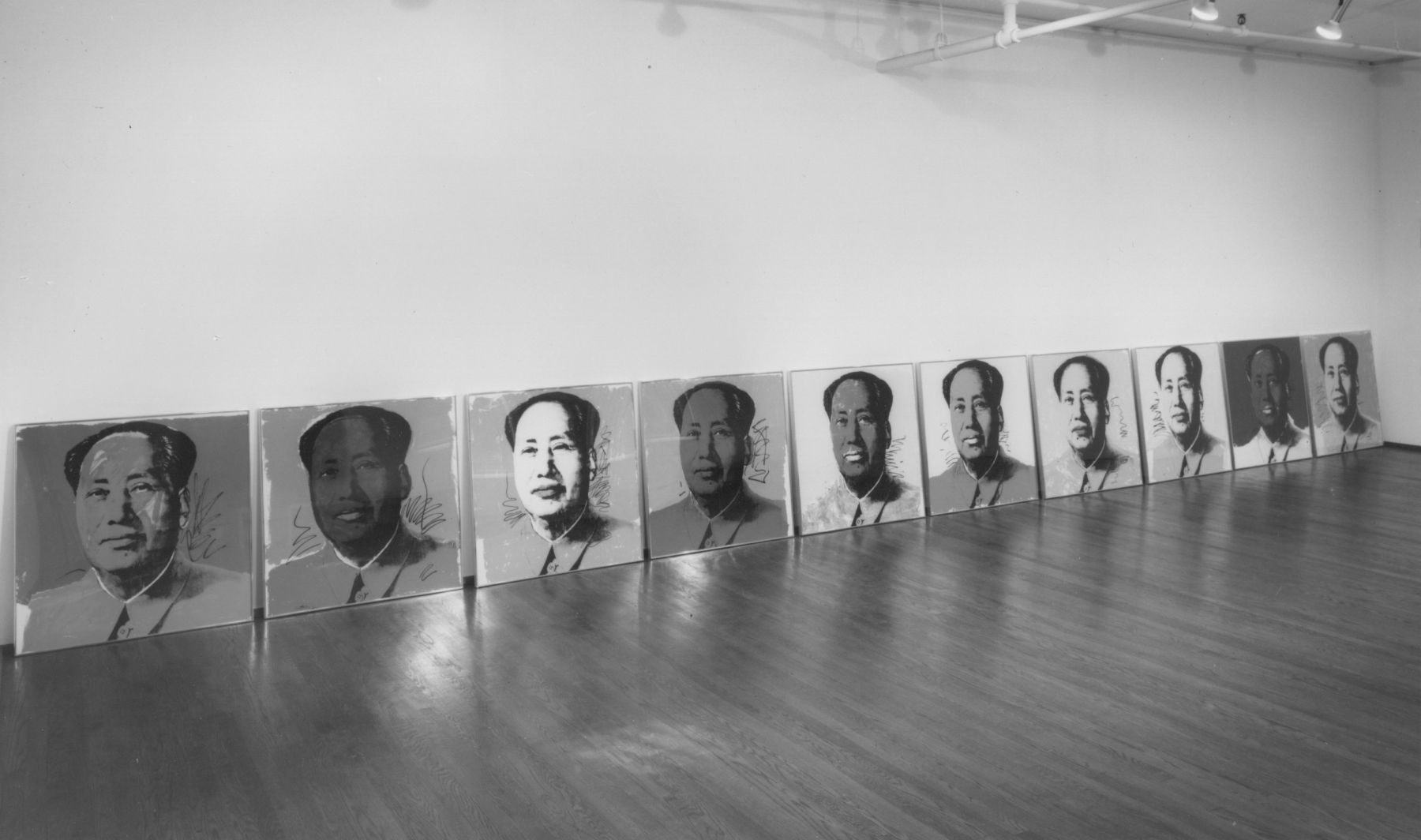 Installation view, Andy Warhol: Mao Prints, 420 WEST BROADWAY.