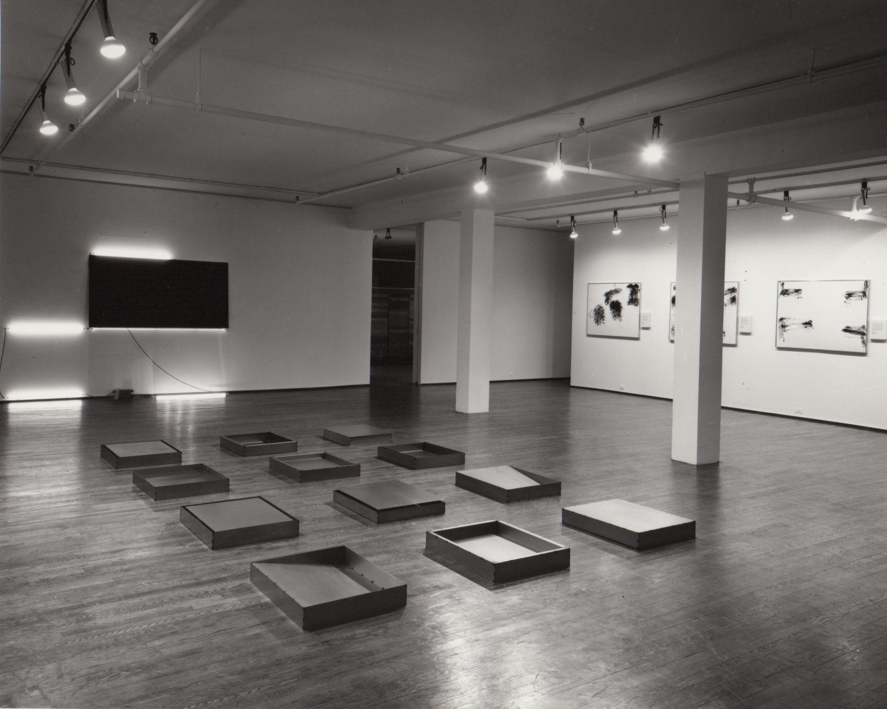 Installation view, Robert Barry / Donald Judd / Robert Morris / Keith Sonnier, 420 WEST BROADWAY