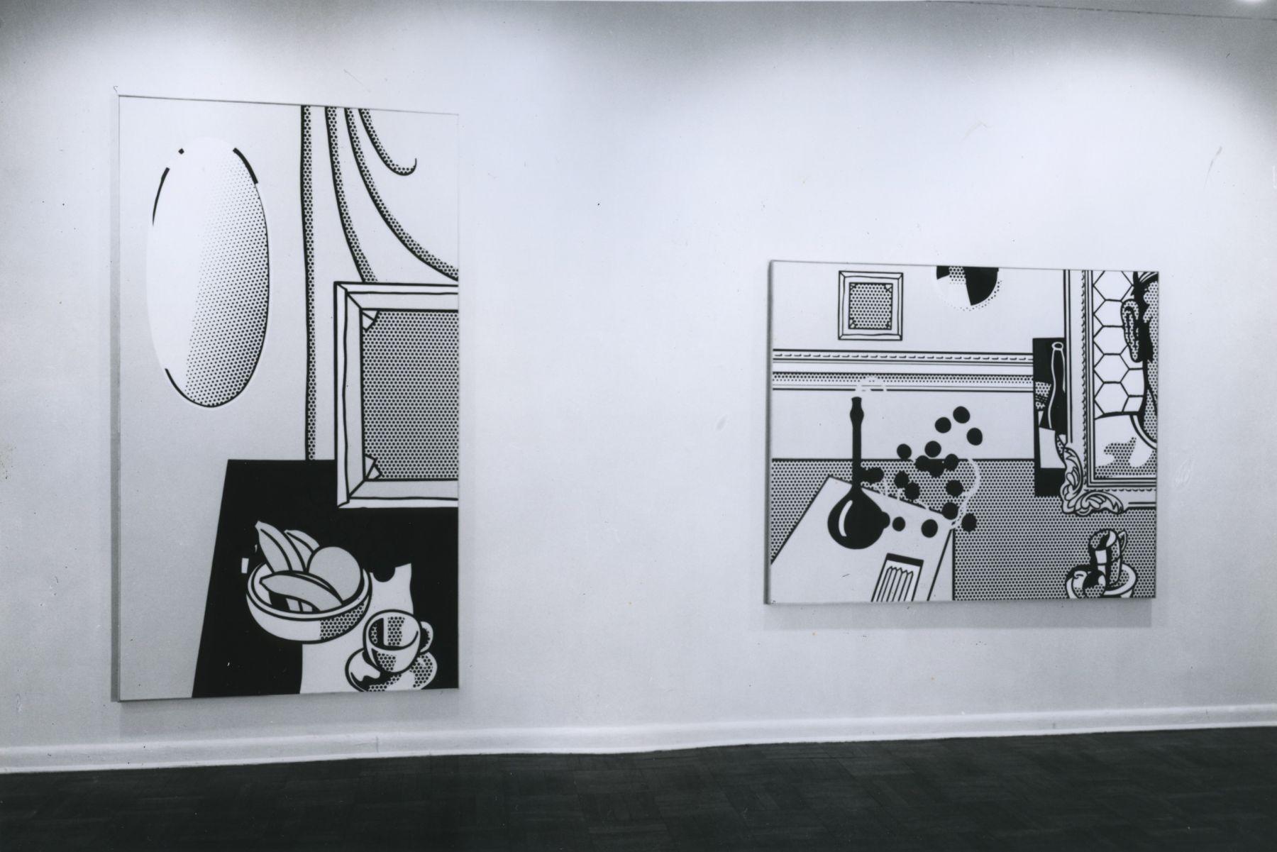 Installation view, Roy Lichtenstein: Still Lifes, 4 EAST 77.