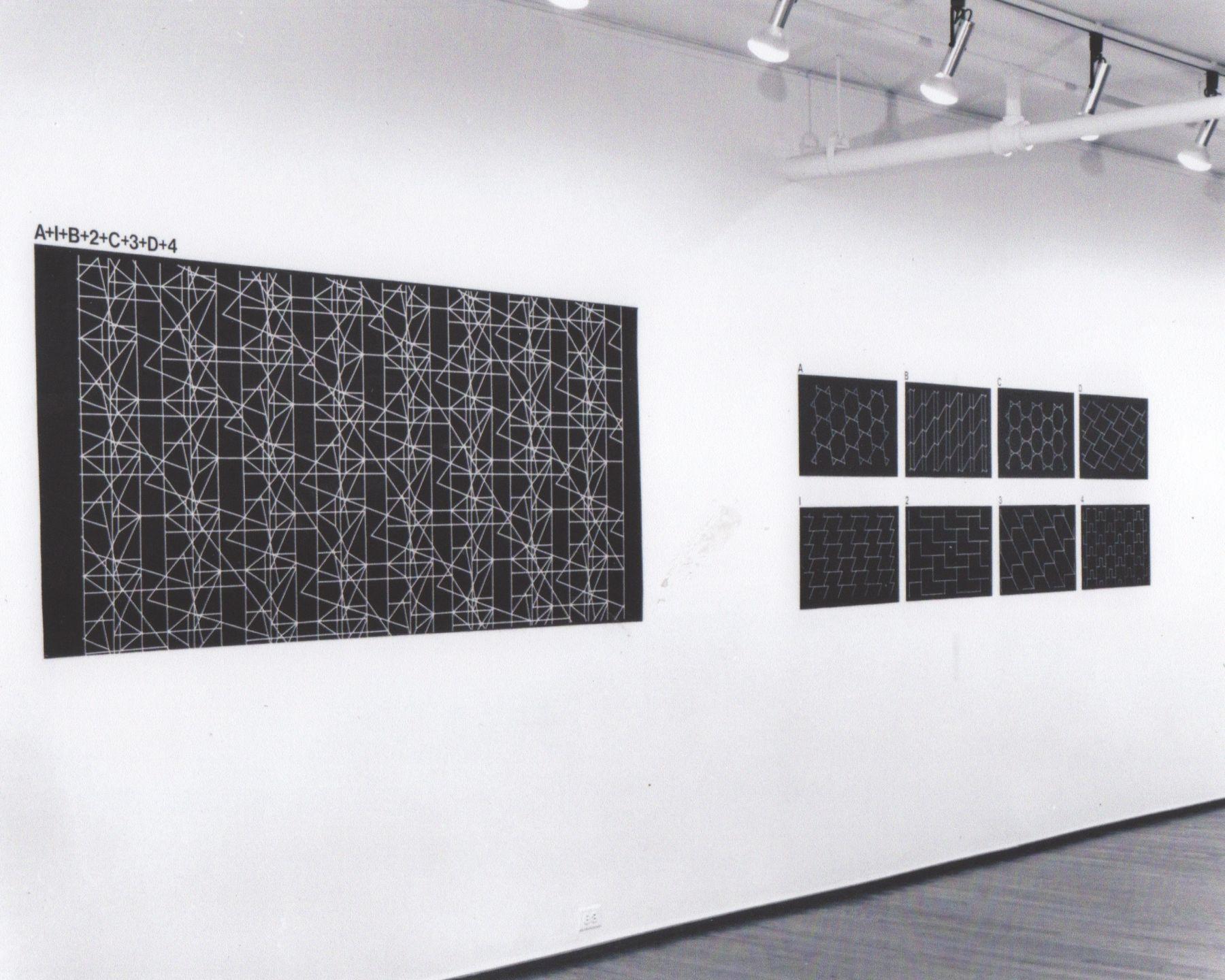 Installation view, Joseph Kosuth: Tenth Investigation, Position Four, 420 WEST BROADWAY.