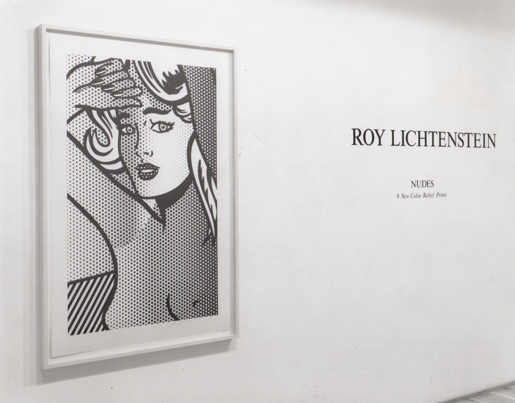 Installation view, Roy Lichtenstein: Nudes, 9 Color Relief Prints, 578 BROADWAY