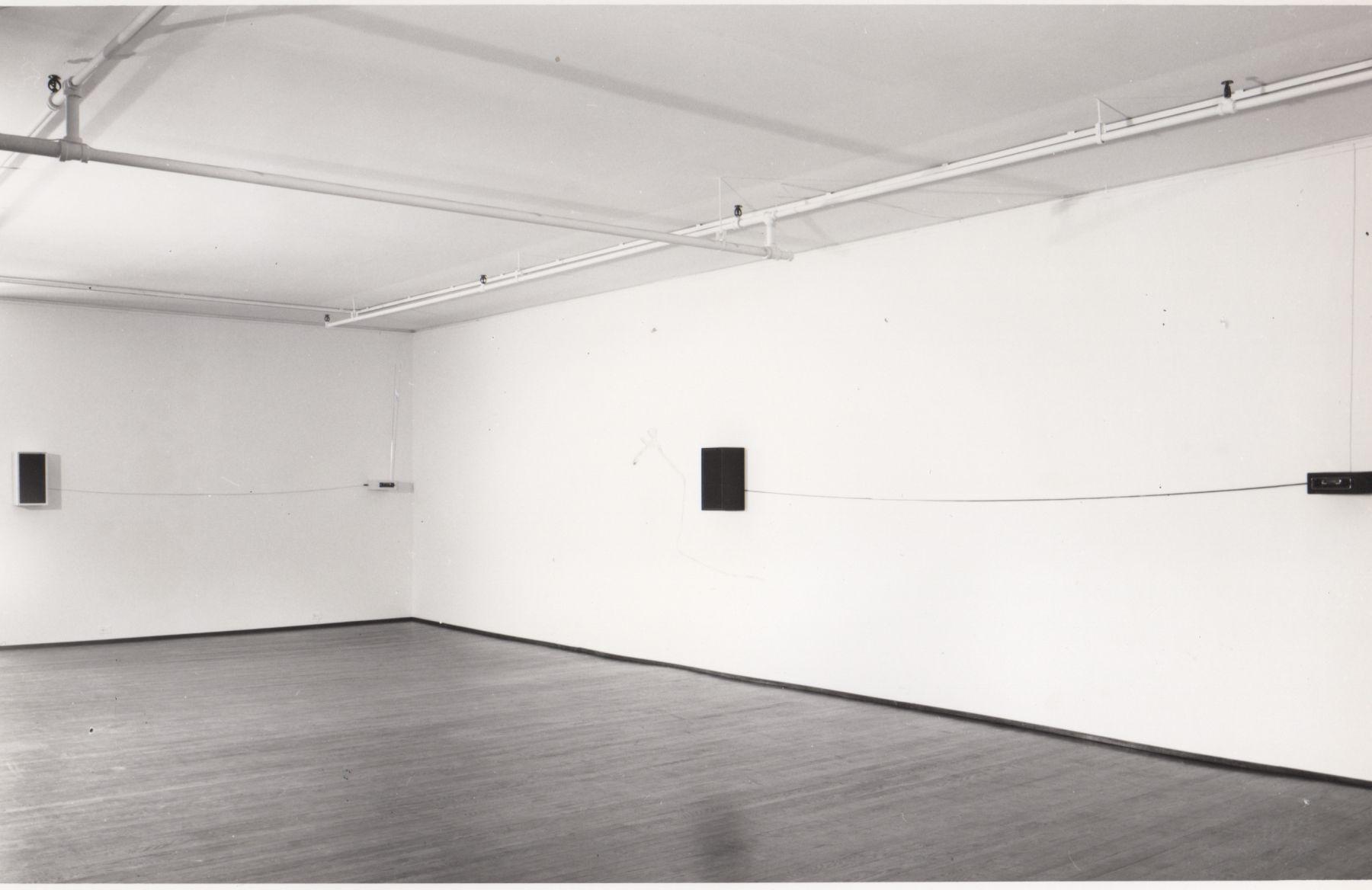 Installation view, Keith Sonnier: Radio Mix, 420 WEST BROADWAY.