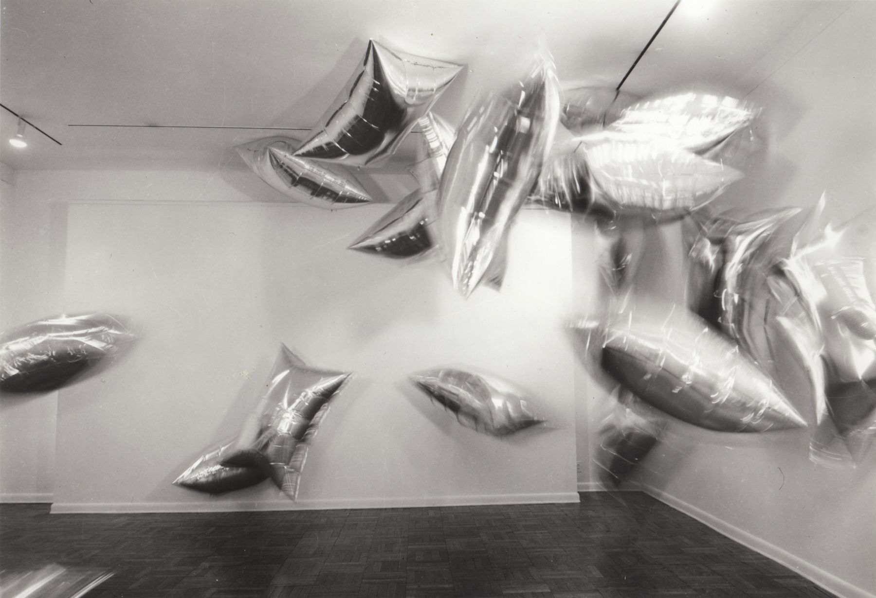 Installation view, Andy Warhol: Wallpaper and Clouds, 4 EAST 77.