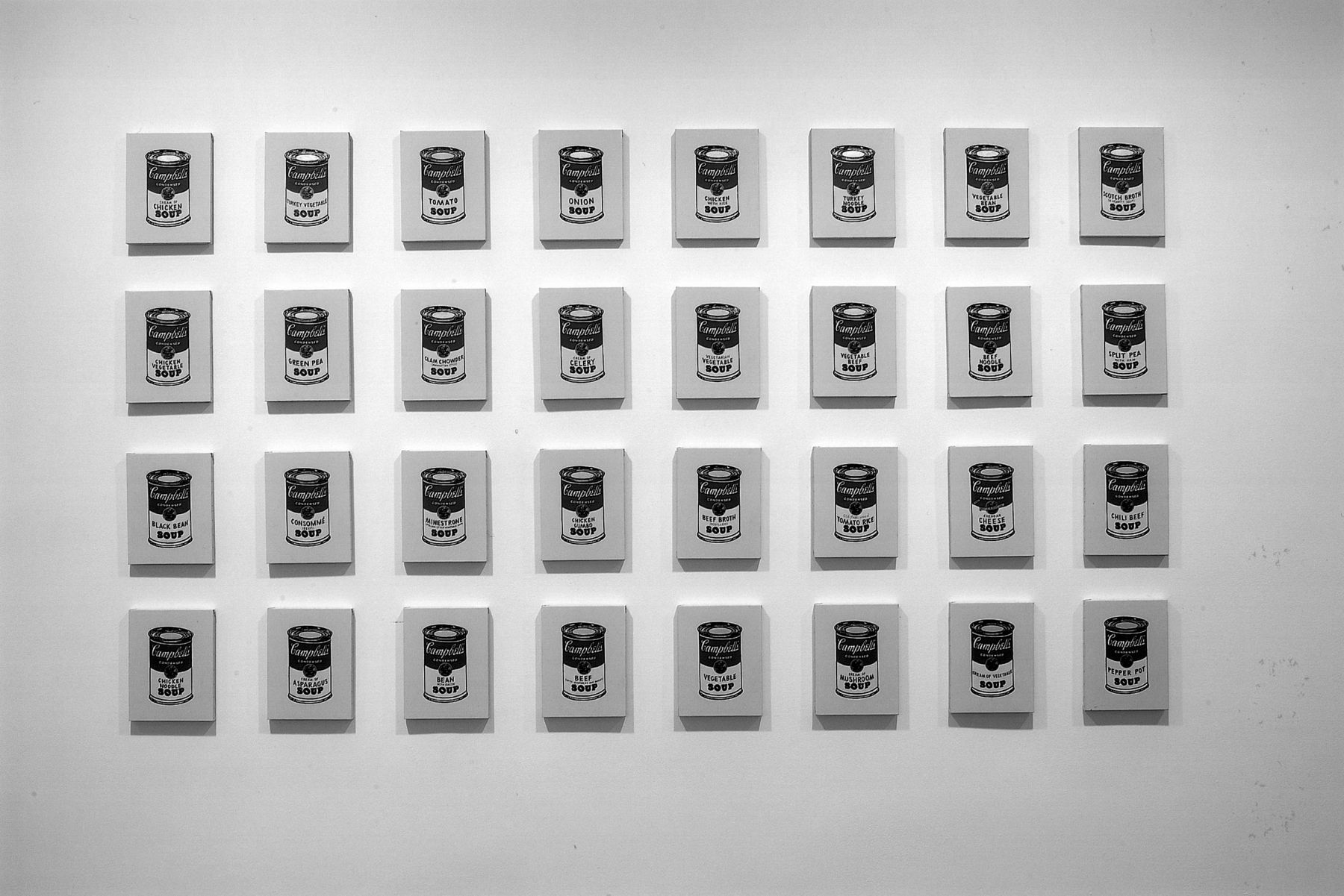 Installation views, Richard Pettibone: Sixty-four Campbell's Soup Cans, 18 EAST 77