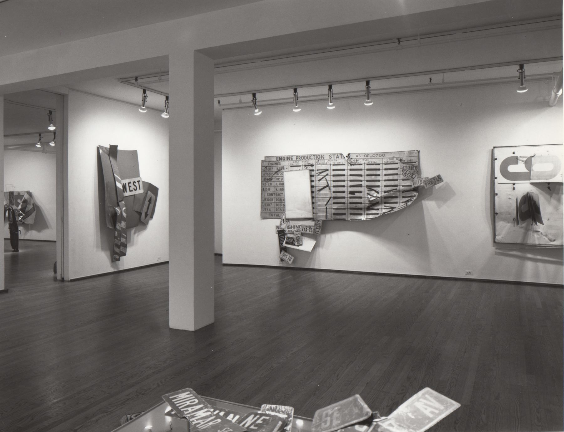 Installation view, Robert Rauschenberg, 420 WEST BROADWAY.