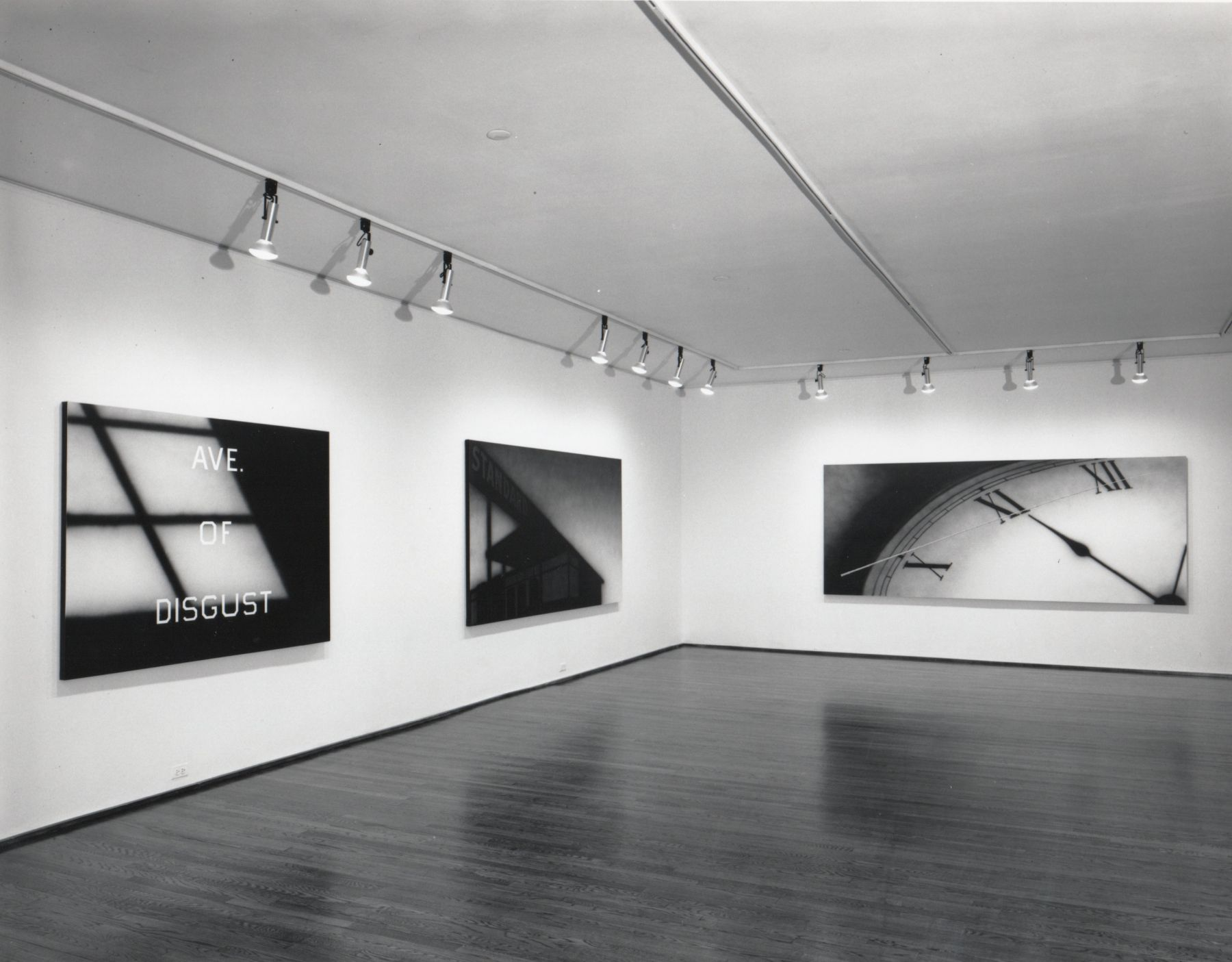 Installation view, Ed Ruscha, 420 WEST BROADWAY.