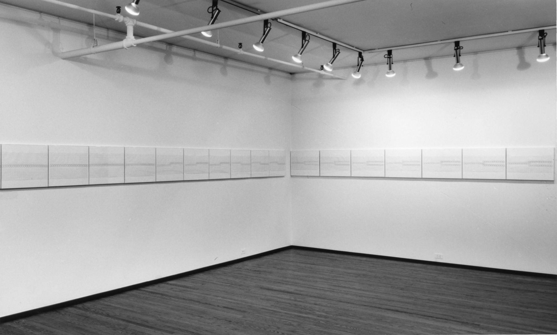 Installation view, Dan Flavin: Diagrams for Circular Flourescent Light, 420 WEST BROADWAY