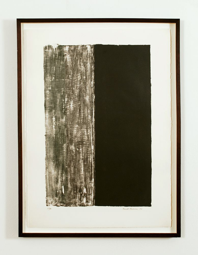 Untitled, 1961 lithograph printed in black