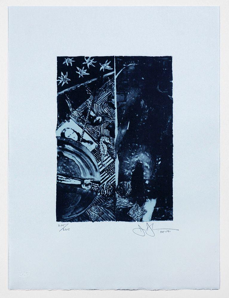 Summer (Blue), 1985-1991, color lithograph