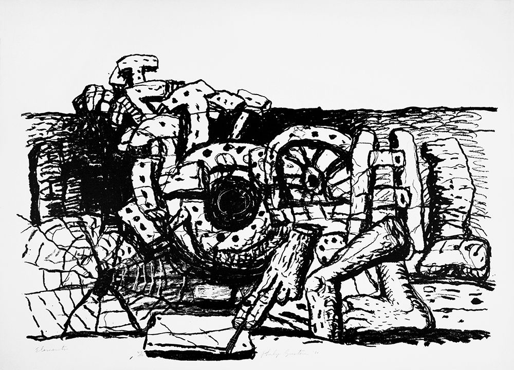 Elements, 1980 lithograph