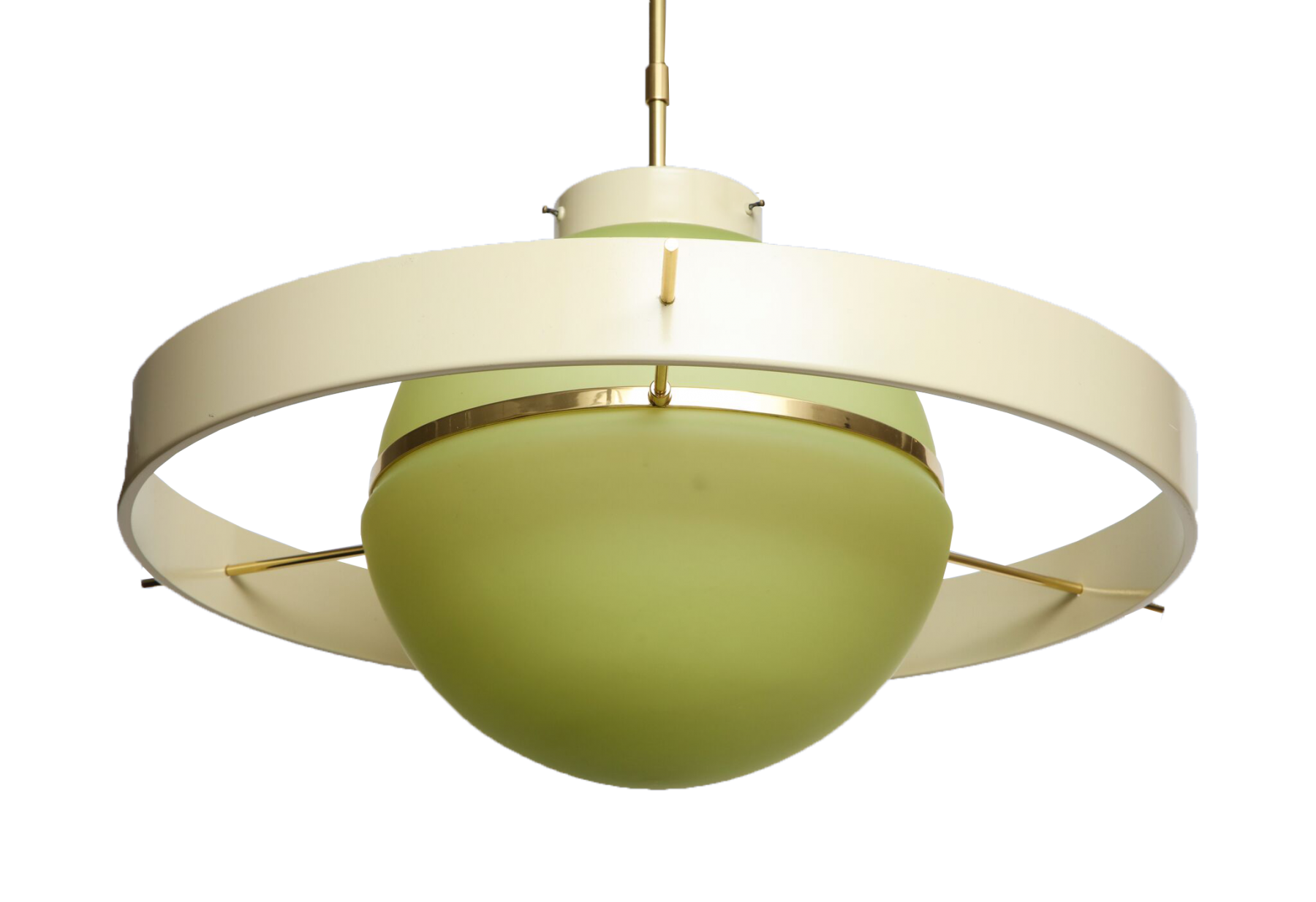Green Glass Midcentury Satellite Pendant Light Inventory