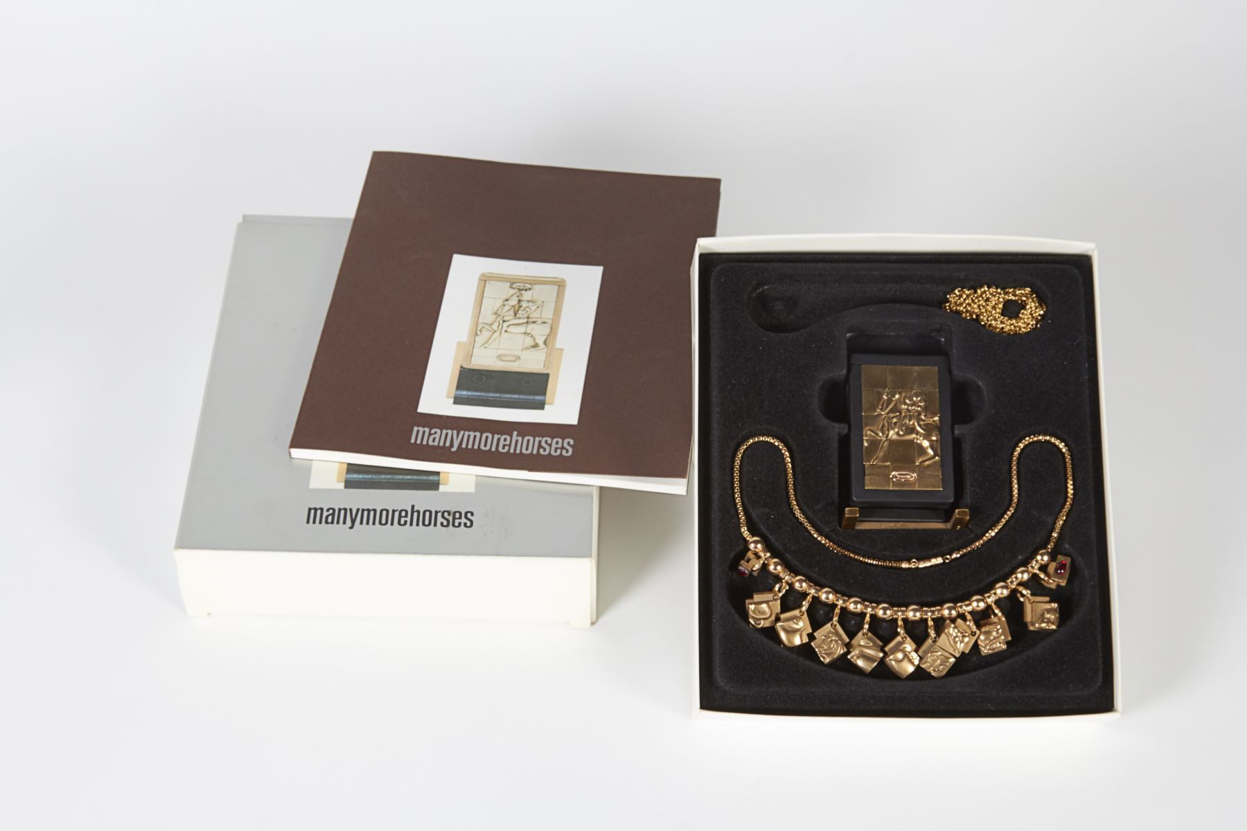 Many More Horses Necklace and Puzzle Sculpture by Berrocal
