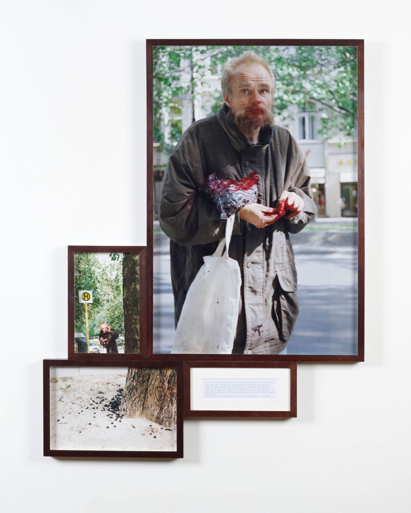 Boris Mikhailov Man with Cherries from Look At Me I Look At Water series, 1999