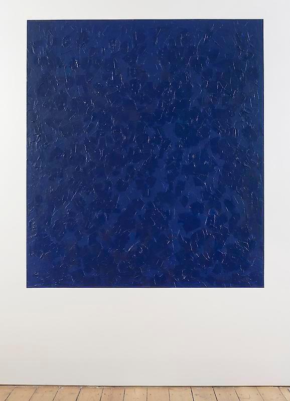 Giovanni Anselmo Ultramarine Blue while it appears towards overseas, 2012