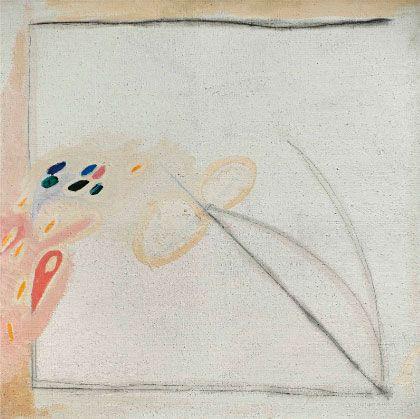 Invasione,1967, oil, gouache and pencil on canvas