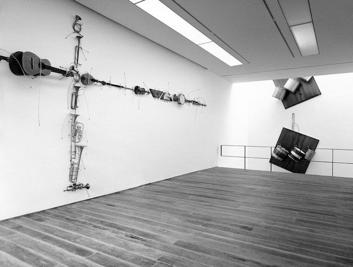 jannis kounellis exhibition view, 2008