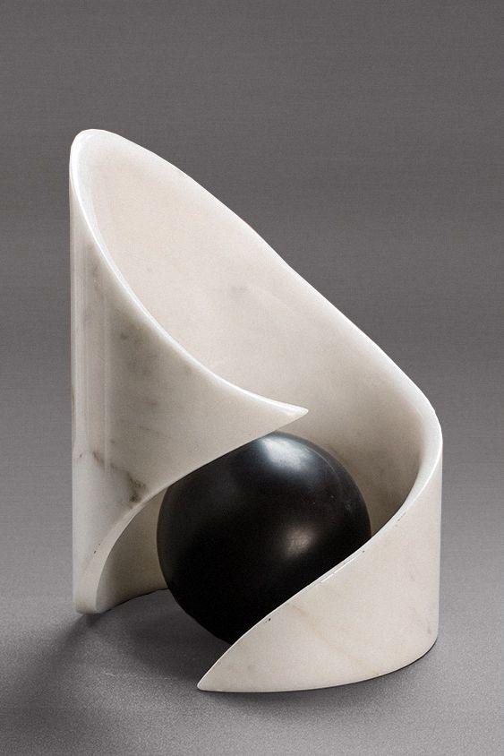 Charlie Kaplan, Spiral In White, 2012