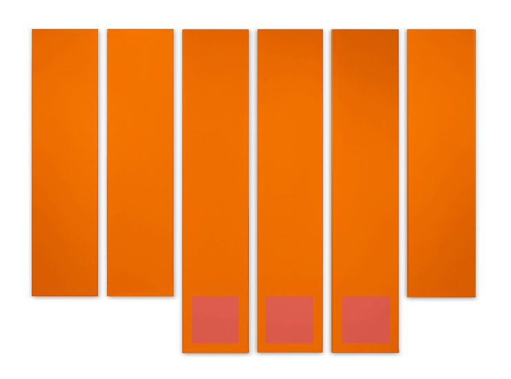 Avery, 1968, acrylic on canvas, 90 x 123 in. by Doug Ohlson