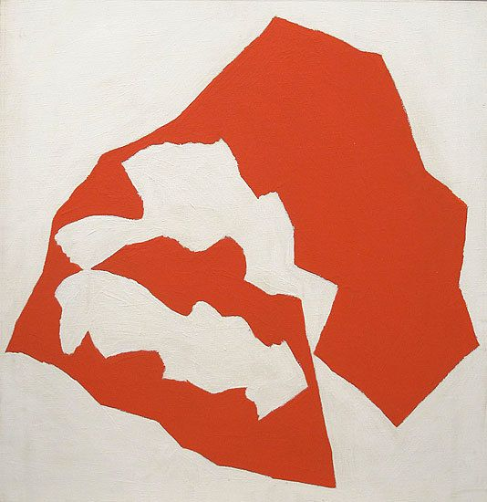 Jack Youngerman, Untitled, Red #73, c. 1960, oil on canvas, 28 x 27 in.