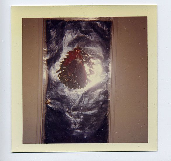Christmas Door, 1960s, 3 1/2 x 3 1/2 in.