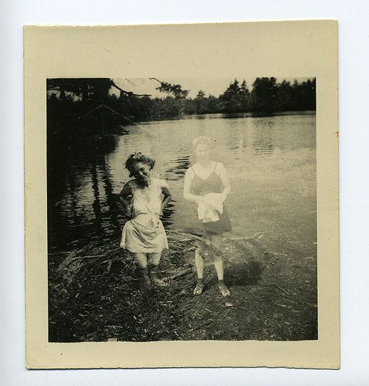 Girl Double Exposed, 1940s, 3 1/2 x 3 14/15 in.