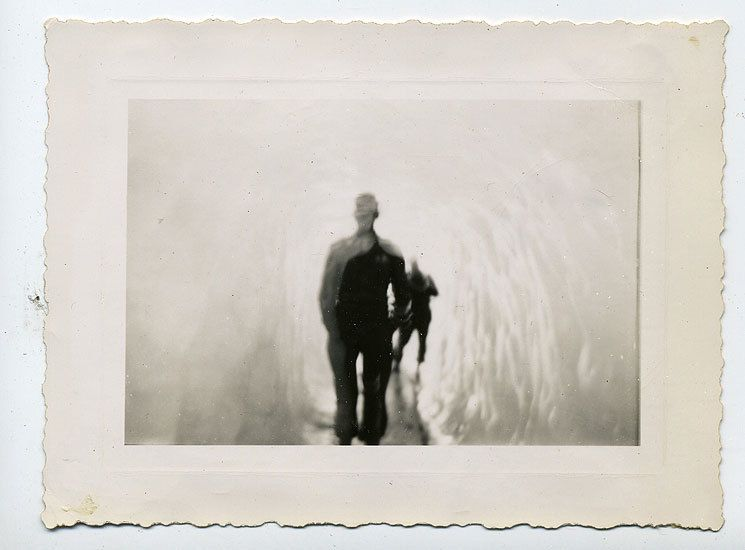 Man in Ice Cave, 1940s, 4 2/16 x 3 2/16 in.