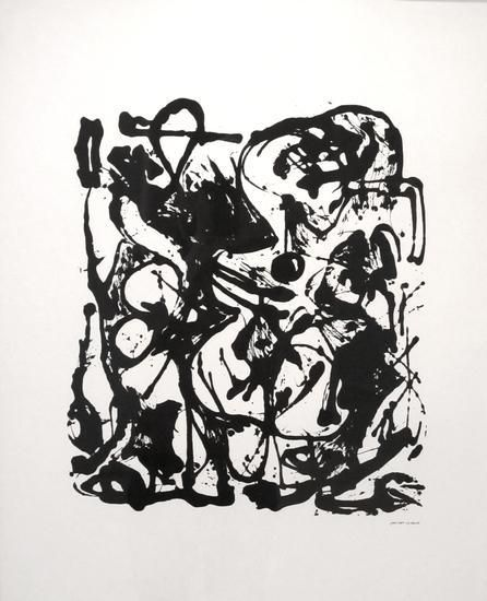 """Jackson Pollock, Untitled (After CR#333), 1951, screenprint, ed. 16/25, 29 x 23 in., CR#1094 (P30), signed and dated with edition number """"25/16,"""" printed in 1951 by Pollock and Sanford McCoy at Deep River, CT in an edition of 25"""