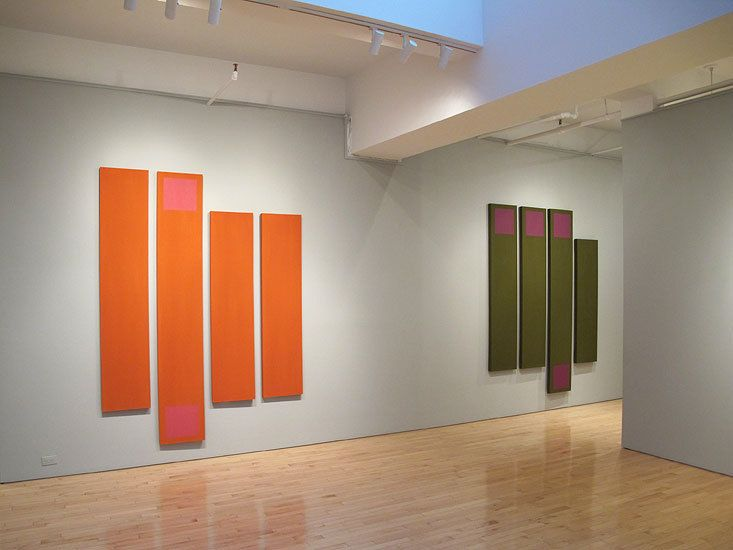 """Doug Ohlson: Panel Paintings from the 1960s"" Washburn Gallery installation view"