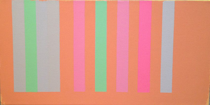 Untitled, 2001-02, acrylic on canvas, 14 x 28 in.