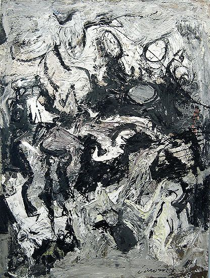 Nicolas Carone, Untitled, 1952, oil on canvas, 37 x 28 in.