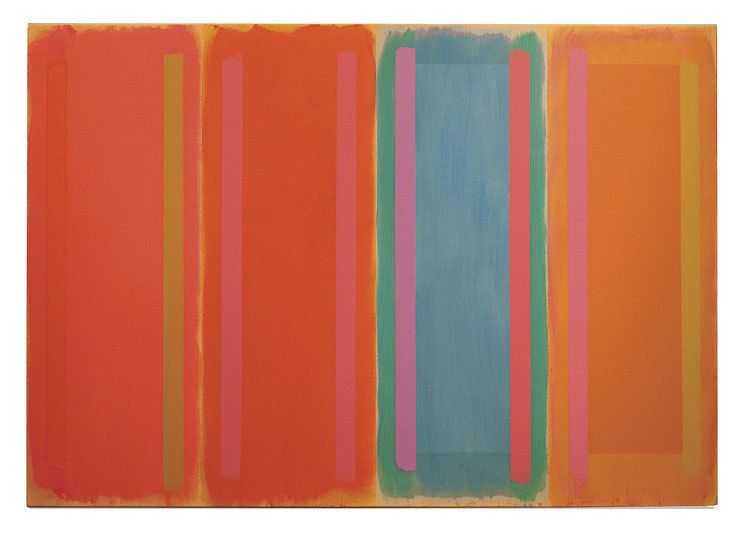 Untitled, 1996, acrylic on canvas, 50 x 72 in.