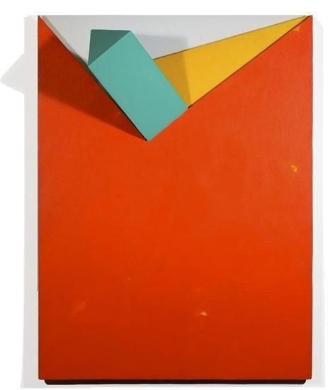 Prince, 2008, acrylic on non-woven acrylic fiber on wood with plexiglass, 40 x 30 x 10 in.