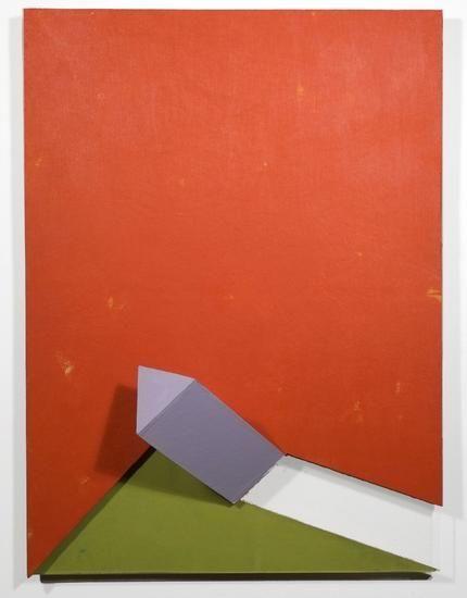 Bleeker, 2008, acrylic on non-woven acrylic fiber on wood with plexiglass, 30 x 22 x 8 in.