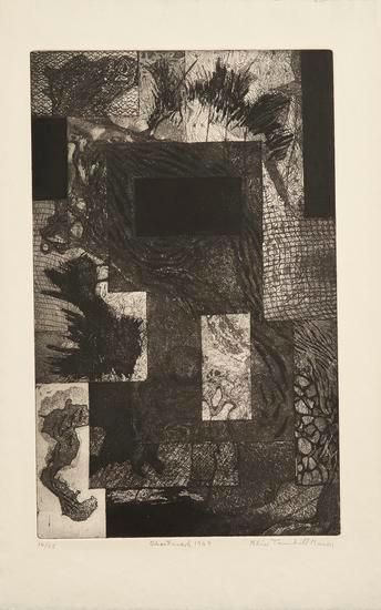 Ghost Mark, 1949, etching on paper, 23 7/8 x 18 in., ed. 6/25