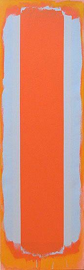"""Doug Ohlson, """"Distaff,"""" 1995, acrylic on canvas, 72 x 22 in."""