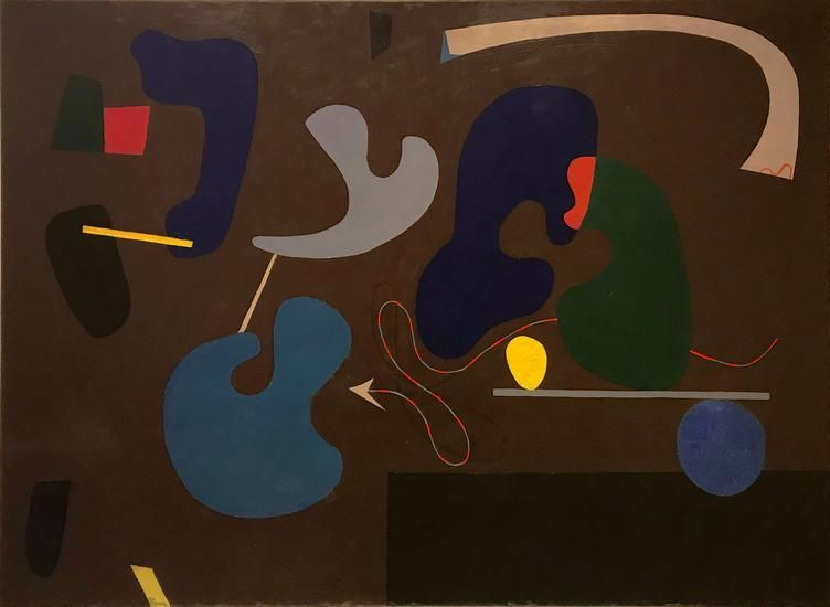 Ilya Bolotowsky, Umber, 1938-39, oil on canvas, 44 x 60 in.