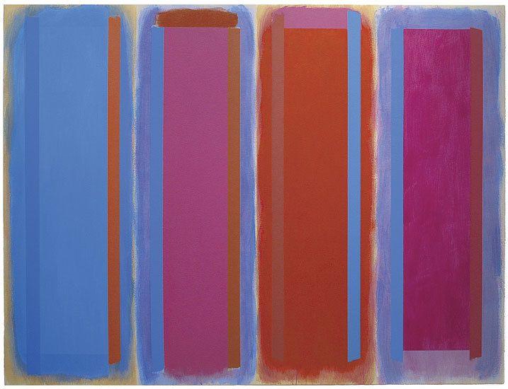 Salammbo, 1996, acrylic on canvas, 64 x 84 in. by Doug Ohlson