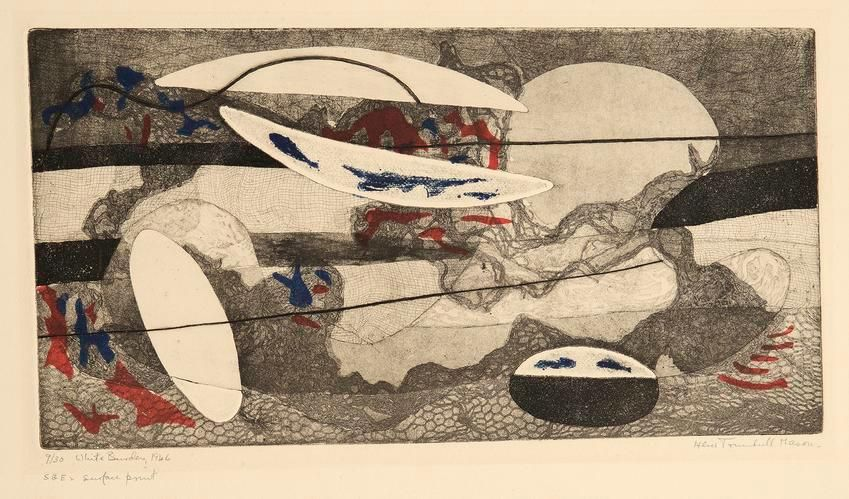 White Burden, 1946, etching on paper, 8 x 15 1/2 in., ed. 9/30